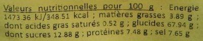 Neff - Potage Poireaux et Pommes de Terre - Nutrition facts - fr
