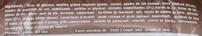 Barre Énergie Pêche-Abricot - Ingrédients - fr