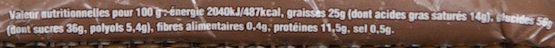 Barre Énergie Pêche-Abricot - Informations nutritionnelles - fr