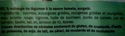 Ratatouille Cuisinée - Ingrédients - fr
