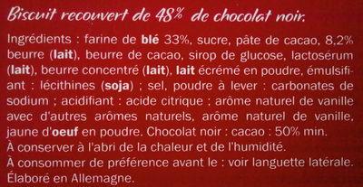 Biscino Chocolat Noir - Ingrédients