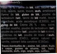 PAIN AU RAISIN OU ESCARGOT - Ingrediënten