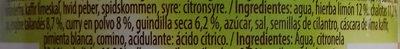 Pasta de curry amarillo - Ingredients - es
