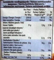 Cookies Noisettes & Chocolat Noir - Informations nutritionnelles - pt