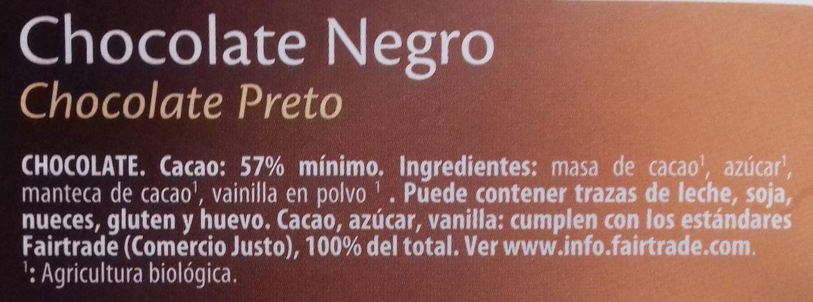 Chocolate negro 57% de cacao - Ingredients