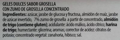 Cintas pica grosella - Ingredients - es