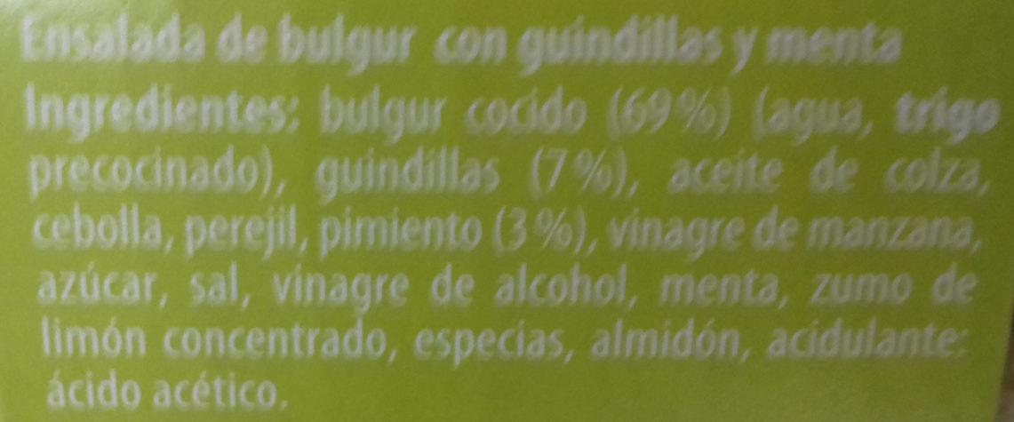 Ensalada de bulgur con guindillas y menta - Ingredients - es