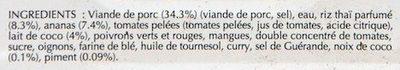 Porc Créole - Ingrediënten - fr