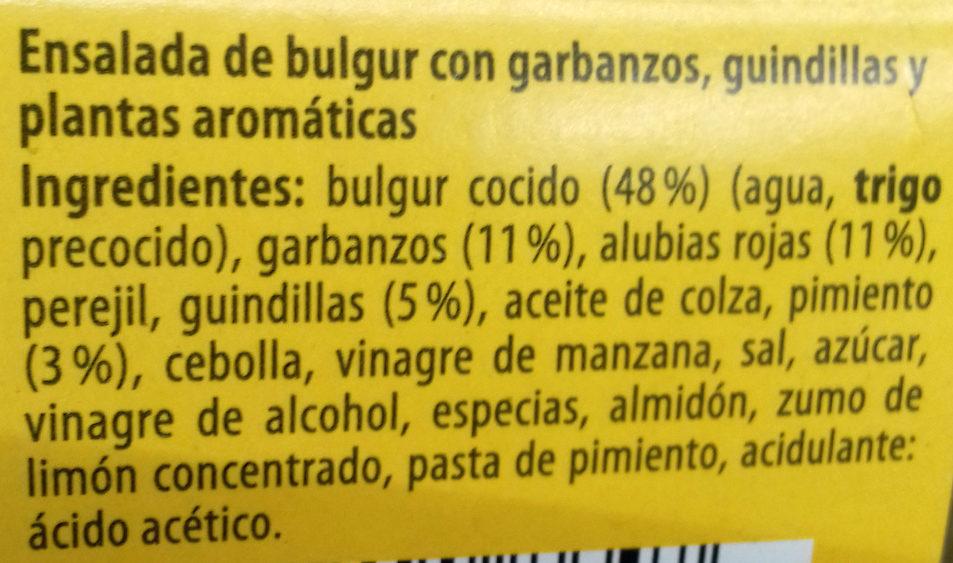 Ensalada de bulgur con garbanzos, guindillas y plantas aromáticas - Ingredientes - es