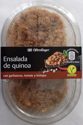 Ensalada de quinoa con garbanzos, tomate y lentejas - Producte - es