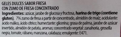 Dulcipica fresa - Ingrédients - es