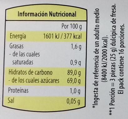 Dulcipica fresa - Informations nutritionnelles - es