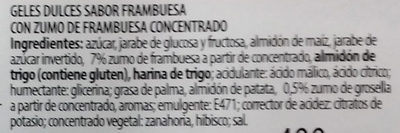 Dulcipica frambuesa - Ingredients - es