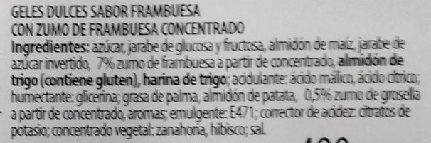 Dulcipica frambuesa - Ingredients