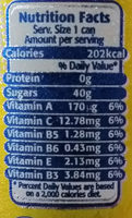 Ciego Montero Pineapple - Nutrition facts