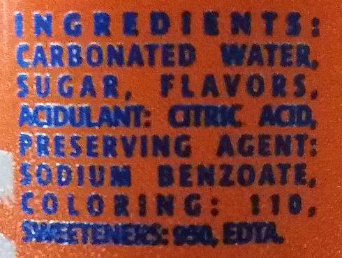 Orange - Ingrediënten - en