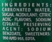 Sparkling - Ingrediënten - en