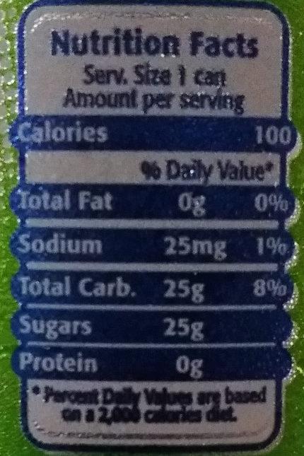 Sparkling - Voedingswaarden - en