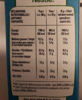 Clusters Muesli Chocolat au lait - Informations nutritionnelles - fr