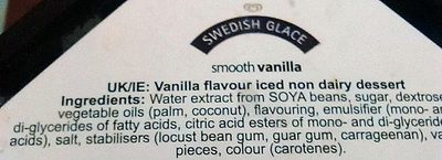 Miko Swedish Glace Smooth Vanilla - Ingrédients - fr