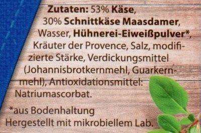 Grill Taler mit Maasdamer & Kräutern der Provence - Inhaltsstoffe