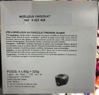Moelleux au Chocolat Premium surgelé - Produit
