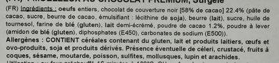 Moelleux au Chocolat Premium surgelé - Ingrédients