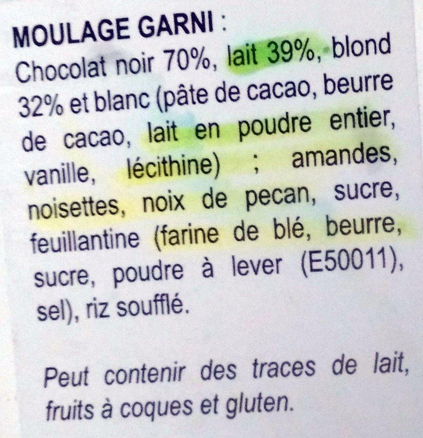 Moulage Garni Lapin de Pâques - Ingrédients - fr