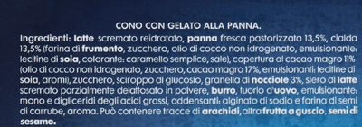 Cono alla panna - Ingredients