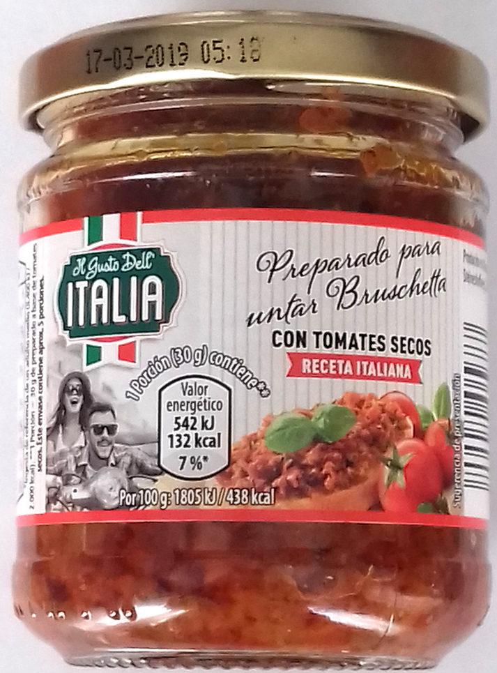 Preparado para untar bruschetta con tomates secos - Producto - es
