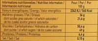 Tablette N°2 Cameroun Lait 38% - Voedingswaarden