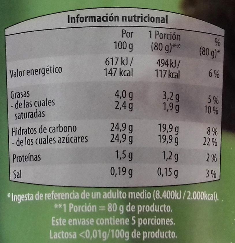 Capricho de chocolate - Información nutricional - es