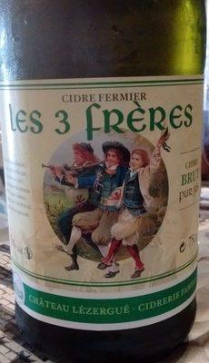 Les 3 Frères - Cidre Fermier Brut (5%) - Product