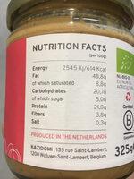 Organic Cashew Butter - Voedingswaarden