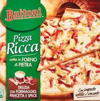 Pizza ricca delizia con formaggio pancetta e speck surgelata - Produit