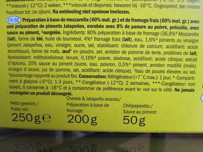 Cheese & Jalapeño Snack - Ingrédients