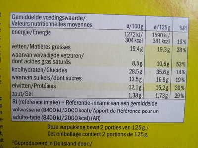 Cheese & Jalapeño Snack - Informations nutritionnelles
