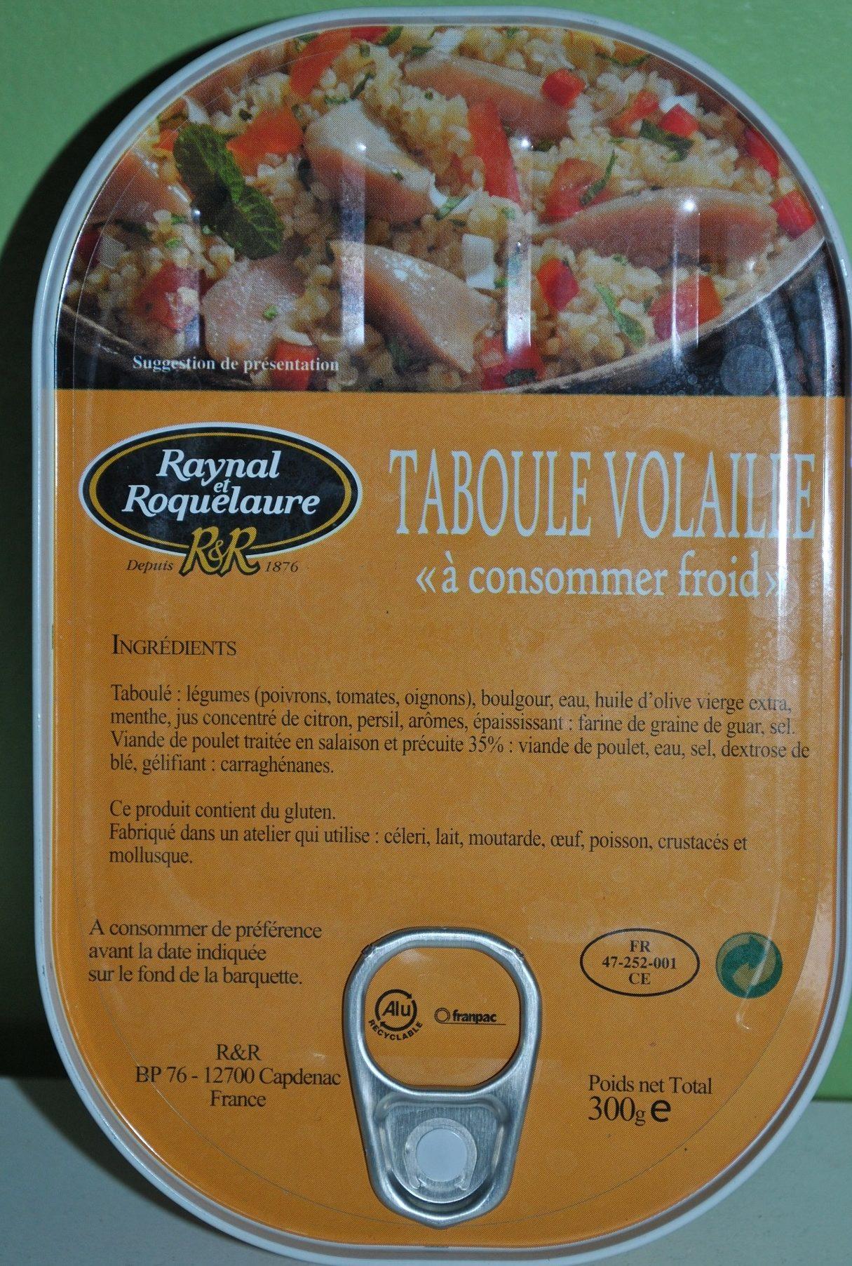Taboulé Volaille - Product - fr