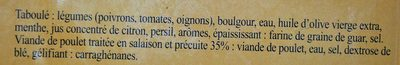 Taboulé Volaille - Ingredients - fr