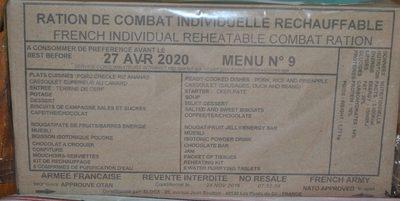 RCIR - Menu N° 9 - Eloca - 1 unité - Producto