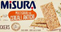 Misura, Multigrain crackers con cereali soffiati - Product - it