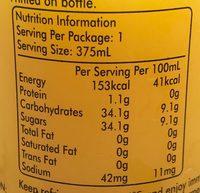 Orange - Voedingswaarden - en