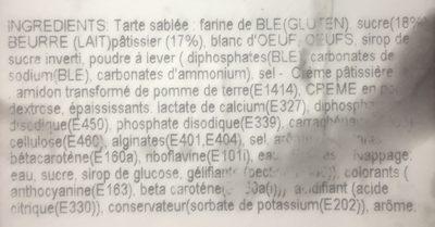 Tarte aux Fraises - Ingredients - fr