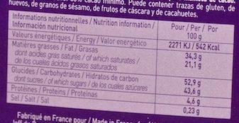 N°6 Caramel à La Fleur De Sel - Voedingswaarden