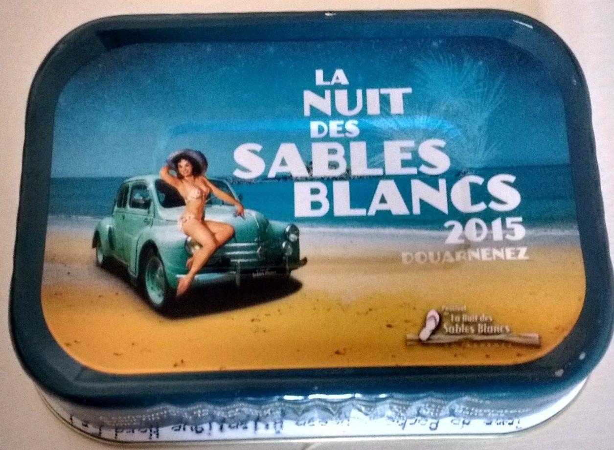 Sardines à l'Huile d'Olive Vierge Extra - La Nuit des Sables Blancs 2015 Douarnenez - Produit - fr
