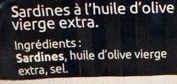 Sardines à l'Huile d'Olive Vierge Extra - La Nuit des Sables Blancs 2015 Douarnenez - Ingrédients - fr