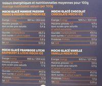 Mochi 'z - Nutrition facts