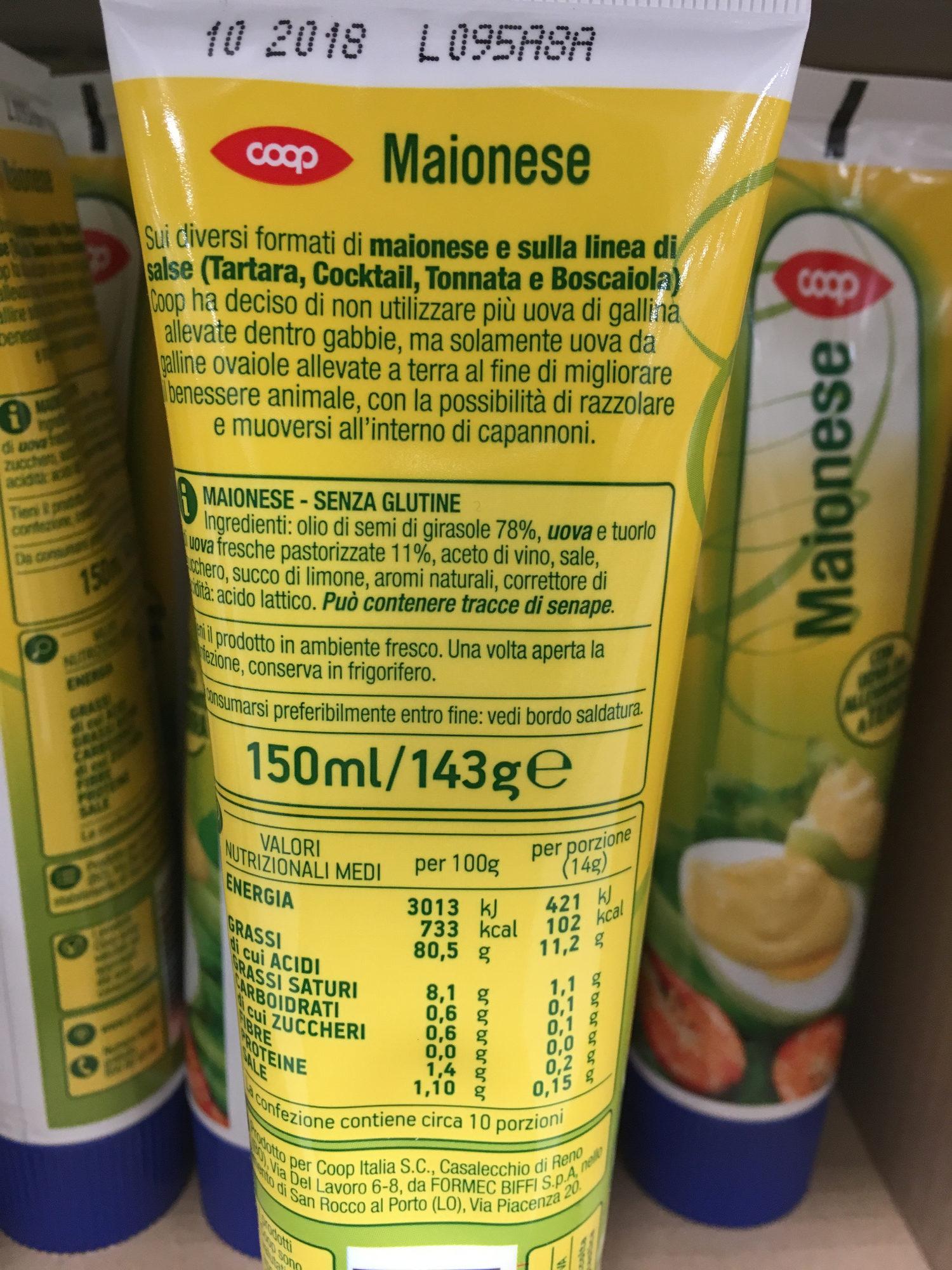 Maionese Coop - Ingredients - it