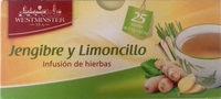 Infusión de hierbas Jengibre y Limoncillo - Producto