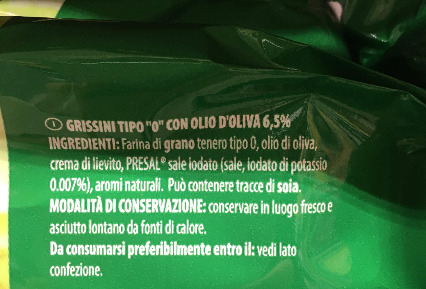 Grissini rustici Despar - Ingredients - it